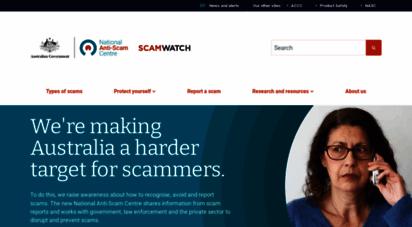 scamwatch.gov.au - home  scamwatch