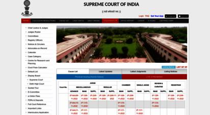 sci.gov.in - supreme court of india