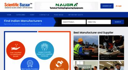 scientificbazaar.com - scientific equipments, science lab manufacturers, scientific instruments exporters, laboratory products supplies