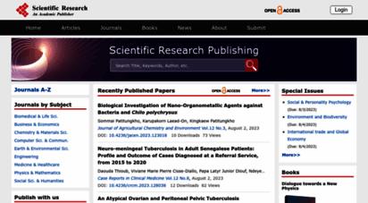 scirp.org - scientific research publishing