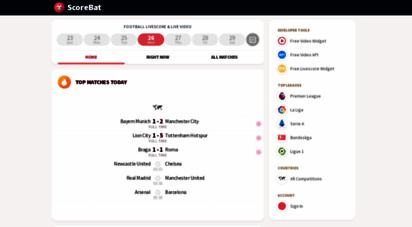 scorebat.com - scorebat: football livescore & live video