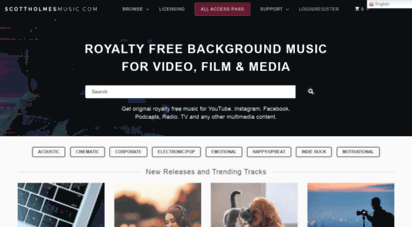 scottholmesmusic.com - royalty free background music licensing for video, film & media