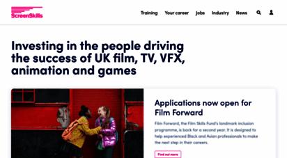screenskills.com - careers, jobs and skills training in film, tv, vfx, animation and games - screenskills