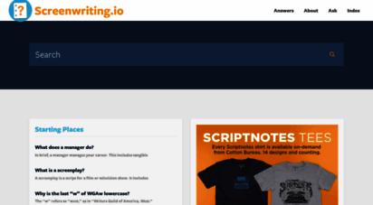 screenwriting.io - screenwriting.io  answering basic questions about screenwriting.