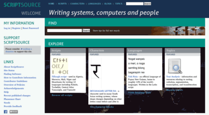 scriptsource.org - scriptsource - writing systems, computers and people