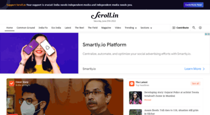 scroll.in - scroll.in - latest news, in depth news, india news, politics news, indian cinema, indian sports, culture, video news