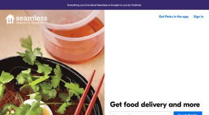 seamless.com - prepare your taste buds...