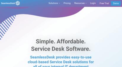 seamlessdesk.com - seamlessdesk  simple. affordable. service desk software