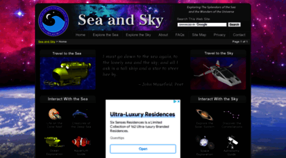 seasky.org - sea and sky - explore the oceans below and the universe above
