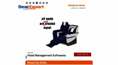 seatexpert.com - best airline seats - seatexpert