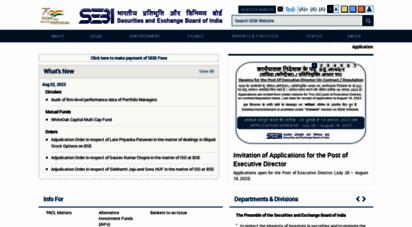 sebi.gov.in - securities and exchange board of india