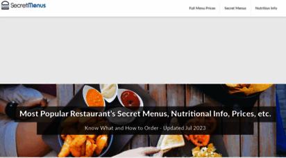 secretmenus.com - secret menus  the official list of hidden menu items