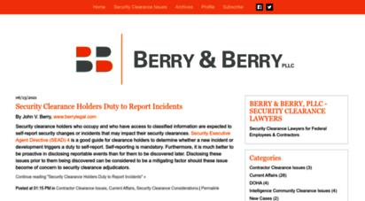 securityclearanceblog.com - security clearance law blog