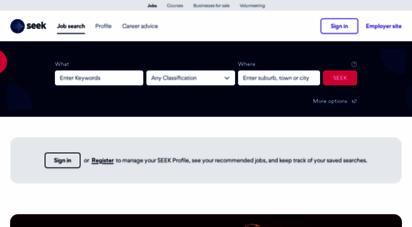 seek.co.nz - seek - browser upgrade