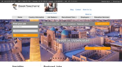 seekteachers.com - international schools jobs, recruiting for local and overseas teaching in primary, secondary, nursery, international schools jobs : seekteachers™