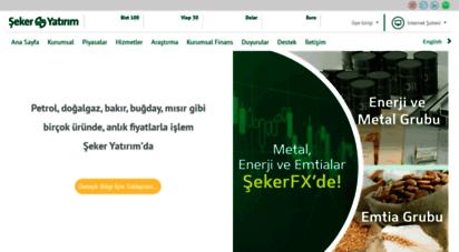 sekeryatirim.com.tr - şeker yatırım