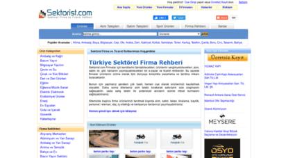 sektorist.com - sektörel firma rehberi, türkiye şirket rehberi, sektörel iş rehberi