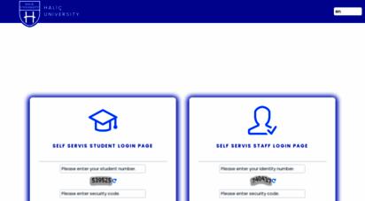 selfservis.halic.edu.tr -