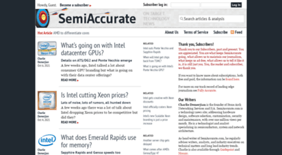 semiaccurate.com - semiaccurate - on target technology news