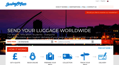 sendmybag.com - shipping luggage ahead, send excess baggage. uni, usa, australia, canada, new zealand, china, uae, france, spain!