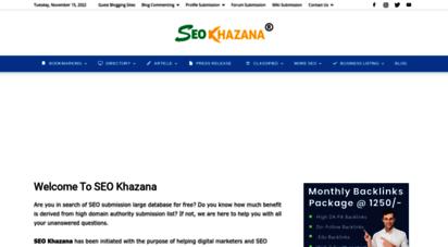 seokhazana.com - free directory list  free web directory database lists