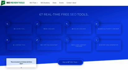 seoreviewtools.com - ➔ seo review tools ③④ free seo tools - making seo accessible