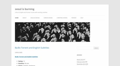 Welcome to Seoulisburning wordpress com - Seoul is burning | Links