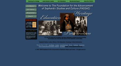 sephardicstudies.org - foundation for the advancement of sephardic studies and culture