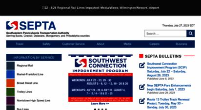 septa.org - septa  southeastern pennsylvania transportation authority