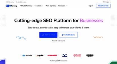 seranking.com - seo software for 360° seo anlysis of your website
