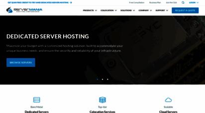servermania.com - servermania: top digital & physical server hosting company