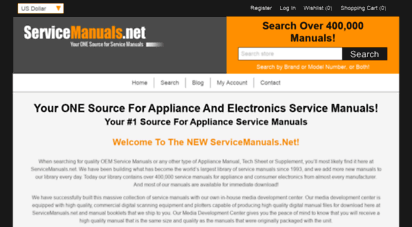 servicemanuals.net - sony, samsung, panasonic and most electronic service manuals
