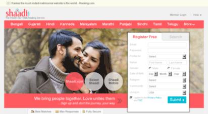 shaadi.com - the no.1 matchmaking, matrimony & matrimonial site