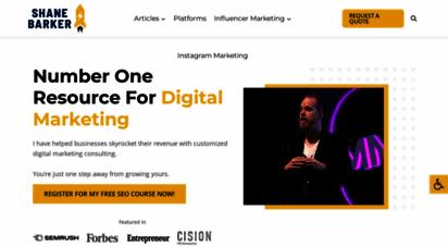 shanebarker.com - digital marketing consultant  boost your revenue with help of shane barker