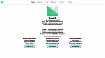 Welcome to Sheetjs com - SheetJS - Home