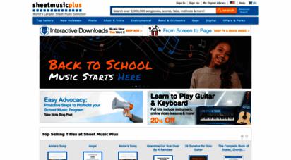 sheetmusicplus.com - sheet music plus: over 1,000,000 print & digital sheet music titles