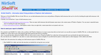 Welcome to Shellfix nirsoft net - NirSoft ShellFix