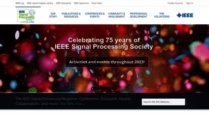 signalprocessingsociety.org - ieee signal processing society - home