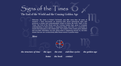 signsofthetimeshistory.com - signs of the times: the end of the world and the coming golden age