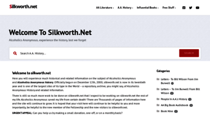 silkworth.net - welcome to silkworth.net -alcoholics anonymous . . . experience the history . . . lest we forget!