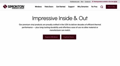 simonton.com - vinyl replacement windows & doors  simonton windows & doors