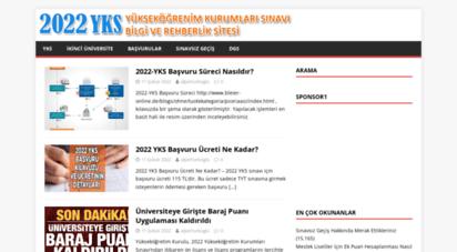 sinavsizgecis.com - 2020 yks - bilgi ve rehberlik sitesi