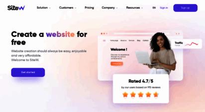 sitew.com - créer un site internet: gratuit, français, site web pro  sitew