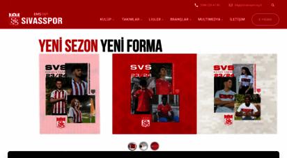 sivasspor.org.tr - sivasspor kulübü resmi internet sitesi - the official web site