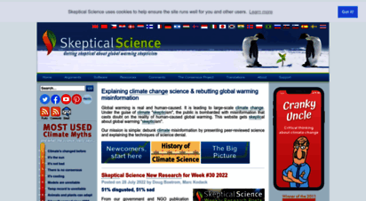 skepticalscience.com - global warming and climate change skepticism examined