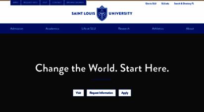slu.edu - saint louis university : slu
