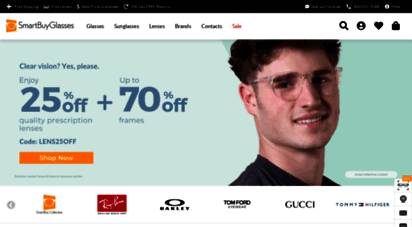 smartbuyglasses.co.uk - designer sunglsss & glsss  up to 70 off  smartbuyglsss uk