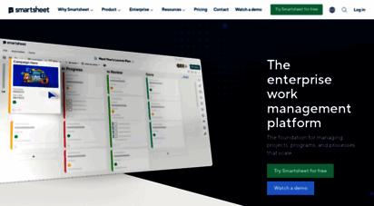 smartsheet.com - collaboration software & solutions  smartsheet a platform for enterprise achievement