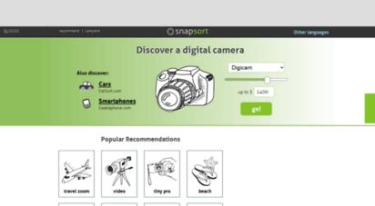 snapsort.com - compare digital cameras - snapsort