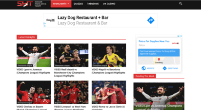 soccerhighlightstoday.com - soccer highlights  today´s football/soccer highlights videos from world´s top leagues